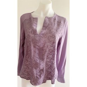The Limited Purple Lace Top Size Small